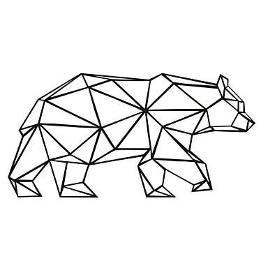 AYA DIY Wall Stickers Wall Decals Geometric Bear Wall
