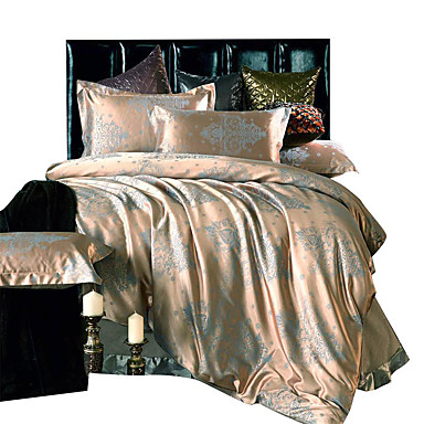 Bedtoppings Cotton Rich Jacquard Embossed 4pcs Duvet Cover