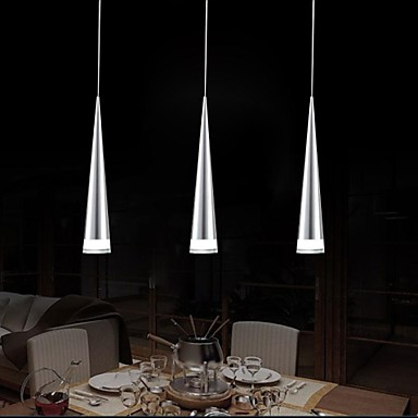 luci pendenti contemporaneo cromo caratteristica for led