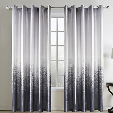 Two Panels Curtain Country Living Room Polyester Material Curtains Drapes Home Decoration For Window 433837 2017 46 39