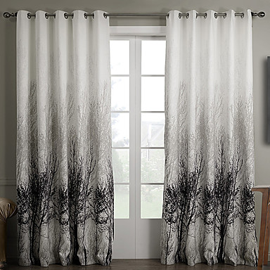 Curtains Ideas country home curtains : Two Panels Curtain Country Bedroom Polyester Material Curtains ...