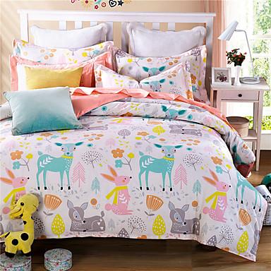 deer cartoon kids adults bedding sets twin full queen king size doona duvet cover set 100. Black Bedroom Furniture Sets. Home Design Ideas