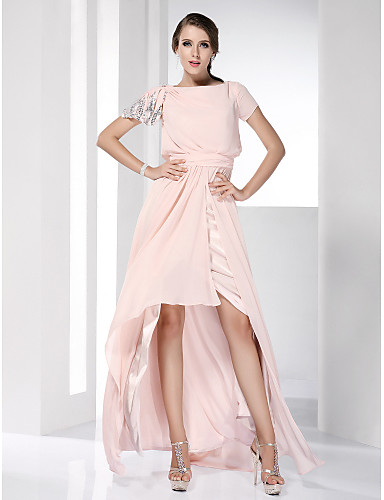 Asymmetrical evening dresses