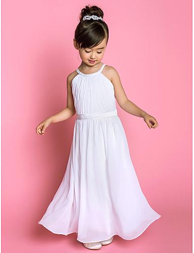 Lanting Bride ® A-line Floor-length Flower Girl Dress - Chiffon ...