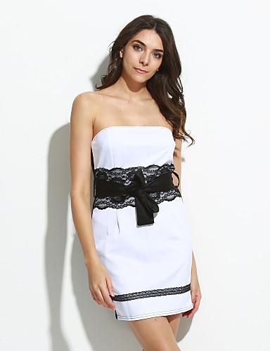 Women's Lace Strapless Lace Splicing Bodycon Mini Dress 1520462 2017 – $9.99