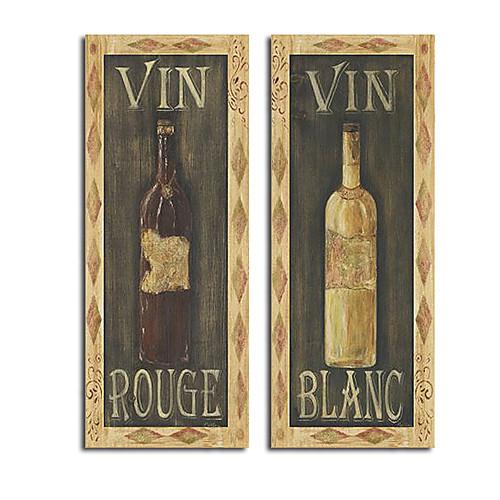 ручная роспись красное вино белое вино жизни маслом с растягивается кадр Lightinthebox 3136.000