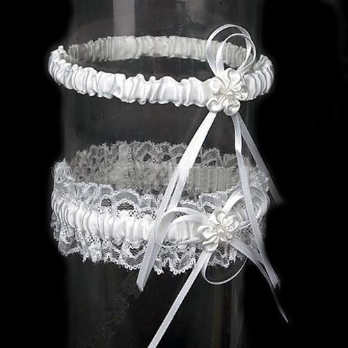 2-х частей атласа с подвязками свадебный цветок Lightinthebox 181.000