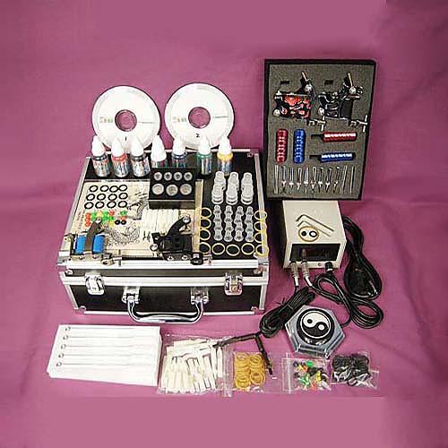 профессиональный комплект машина татуировки Завершено установил с 4 орудия татуировки Lightinthebox 5585.000