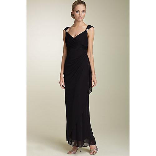 Платье вечернее/для выпускного, с V-вырезом, длина до пола, материал шифон Lightinthebox 2921.000