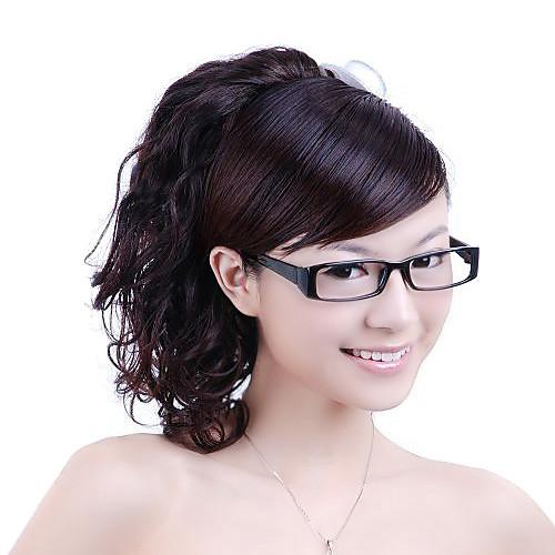 синтетические парики - темно-коричневый кудрявый хвост (jf1193) Lightinthebox 858.000