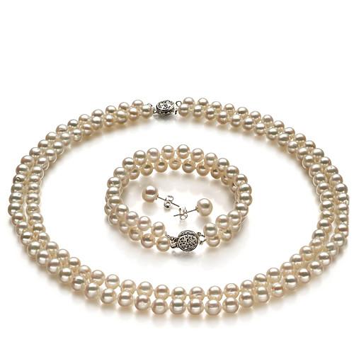 класс 6-7мм пресной воды белый ожерелье жемчуг и браслет (cx030) Lightinthebox 1881.000