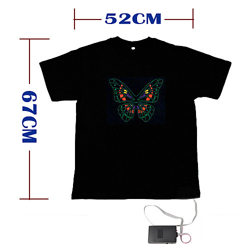 звук и музыка активированный-эль-визуализатор вю спектра танцор футболку (4  AAA) Lightinthebox 944.000