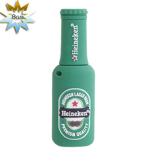 8gb пивной бутылкой стиль USB Flash Drive (зеленый) Lightinthebox 745.000
