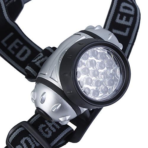 Пластиковый 4-режимный налобный фонарь с 19-LED лампой (3хААА) Lightinthebox 232.000