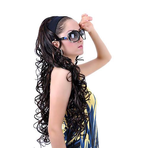 дополнительные длинные черные фигурные 3/4 оголовье парики Lightinthebox 1288.000