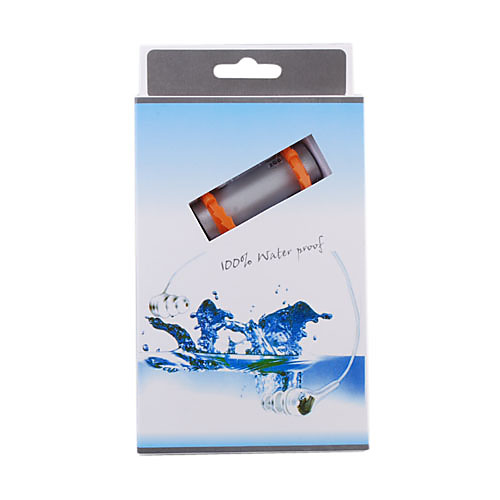водонепроницаемый mp3-плеер столбчатых (4 Гб, черный / серебристый) Lightinthebox 1159.000