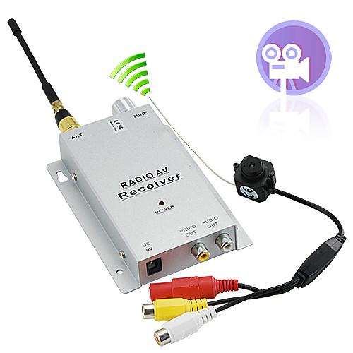 Микро камера-глазок с беспроводным приемником 1.2Ггц A/V PAL Lightinthebox 816.000