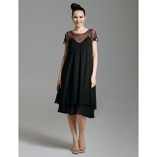 Платье коктельное/для выпускного, длина до колен, украшено бисером Lightinthebox 3437.000