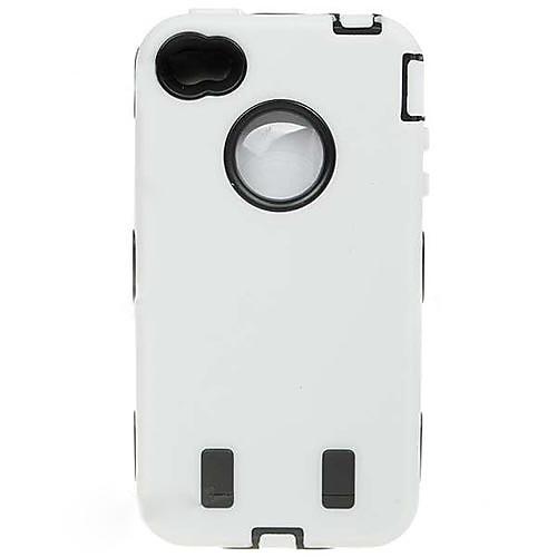 Защитный противоударный чехол  защитная пленка для iPhone 4 (белый) Lightinthebox 287.000