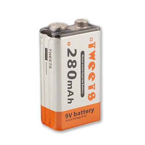 новые 9v 280mAh 280 мАч Ni-MH аккумулятор PP3 (Ni-MH (9v280)) Lightinthebox 300.000