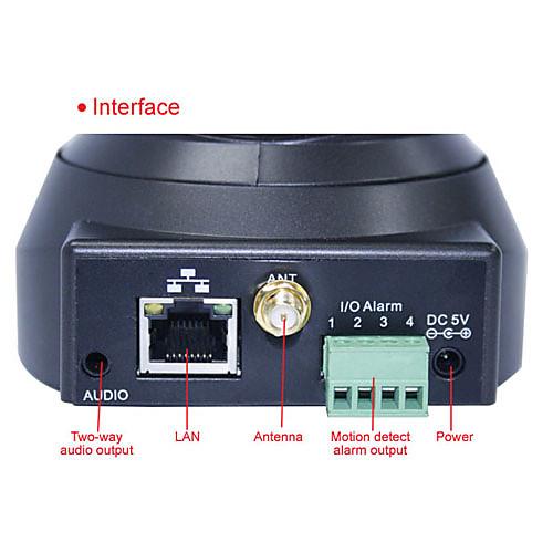 Apexis - беспроводная IP-камера видеонаблюдения с оповещение по электронной почте (обнаружение движения, ночного видения, черный)