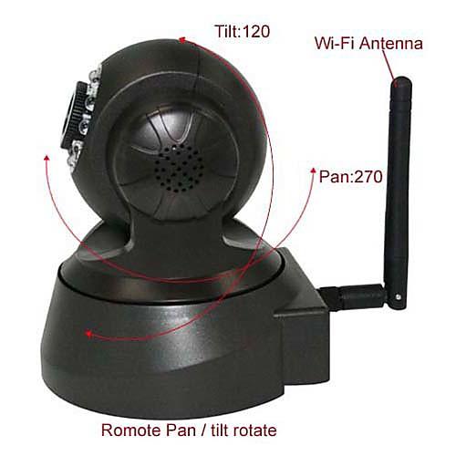 Apexis - беспроводная IP-камера видеонаблюдения с оповещение по электронной почте (обнаружение движения, ночного видения, черный) Lightinthebox 1890.000