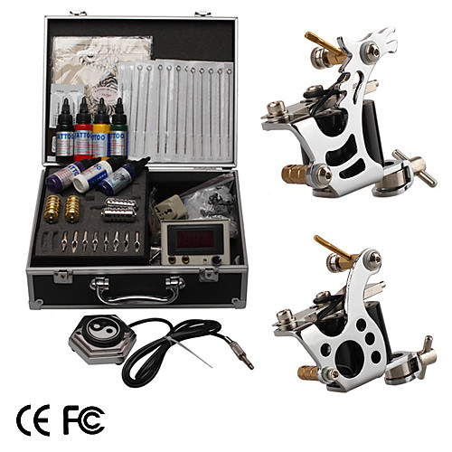 Профессиональный набор для татуажа с 2 тату-машинками и ЖК дисплеем зарядки Lightinthebox 4296.000