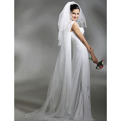 3 слоя собор с бисером вуаль венчания (wav0016) Lightinthebox 644.000