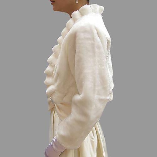 с длинным рукавом из искусственного меха Люкс куртку свадьбы / перевязать (0537-ws29025) Lightinthebox 618.000