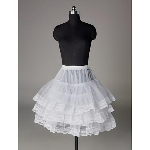 нейлон половиной строки 3 уровня короткометражных скольжения стиль / свадебные юбки Lightinthebox 816.000