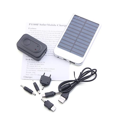 Портативная солнечная батарея USB для iPhone 4/3G/3GS/, iPad и др. устройств (серебристая) Lightinthebox 556.000
