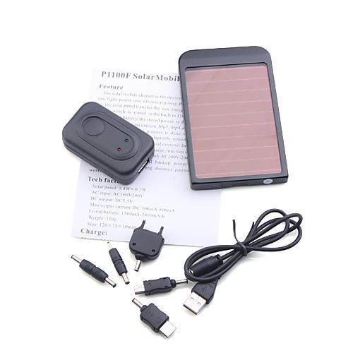 Портативное зарядное устройство на солнечной батарее для сотовых телефонов/МР3, черное Lightinthebox 513.000