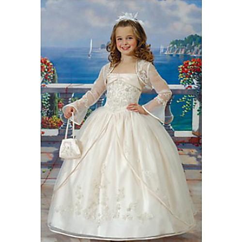 ROSETTA - Платье для девочек из органзы и атласа с накидкой Lightinthebox 5156.000