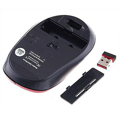 Беспроводная оптическая мышь  2.4GHz приемник USB (красный) Lightinthebox 257.000