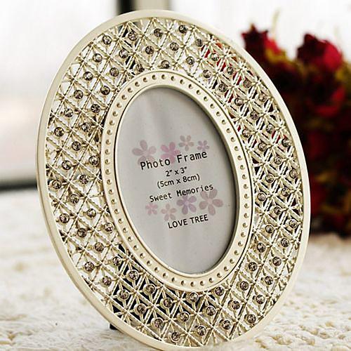 великолепный кристалл тон серебра акцентированные овальная рамка Lightinthebox 339.000