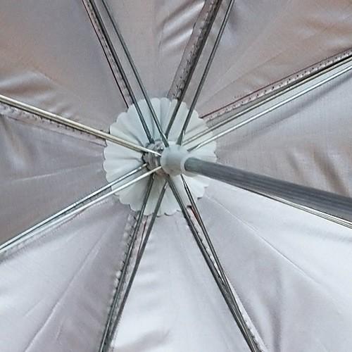 красный с черным кружевом автоматического открытия свадебный зонтик (0636-4) Lightinthebox 437.000