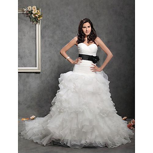 сатин / тюль свадьбы / свадебные ленты створки Lightinthebox 583.000