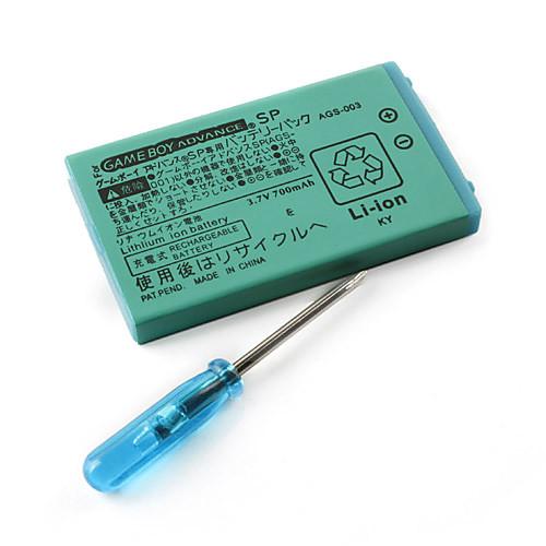 3.7v 700mAh перезаряжаемые литий-ионная батарея для GBA SP заранее Gameboy с отверткой Lightinthebox 171.000