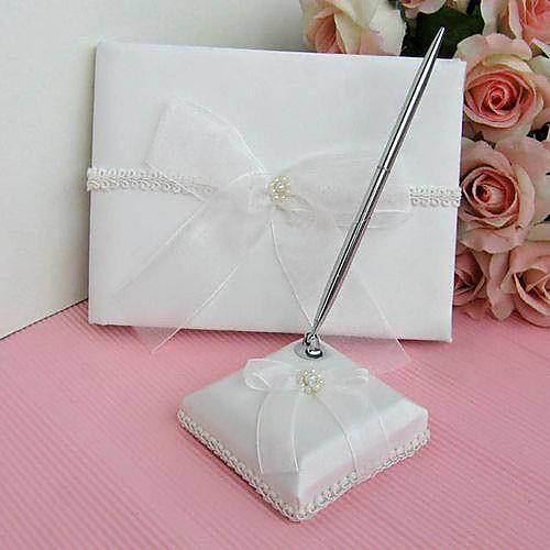 тонкий гостевая книга свадьбы и перо набор из слоновой кости сладкий лук Lightinthebox 708.000