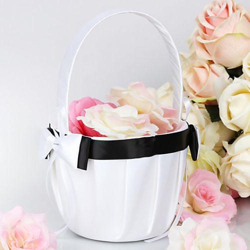простой черный и белый цветок корзины девушка в атласном Lightinthebox 429.000