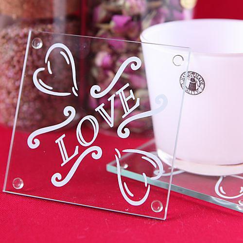 любовь дизайн стеклянной подставки (набор из 2) Lightinthebox 48.000