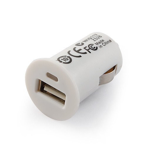 1000mA USB авто адаптер для iPhone 4 белый (5 В, 1 A) Lightinthebox 85.000