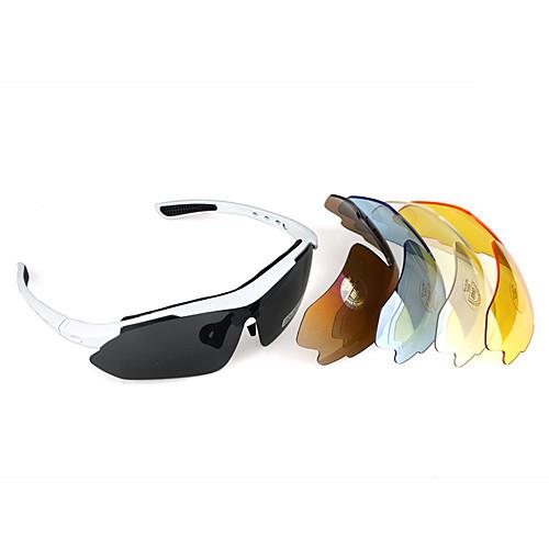 Спортивные солнцезащитные очки в комплекте с 5 поляризованными UV400  линзами  в белой оправе Lightinthebox 858.000