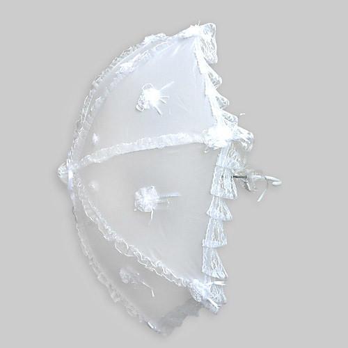 белый терилен автоматического открытия свадьба зонтик Lightinthebox 755.000