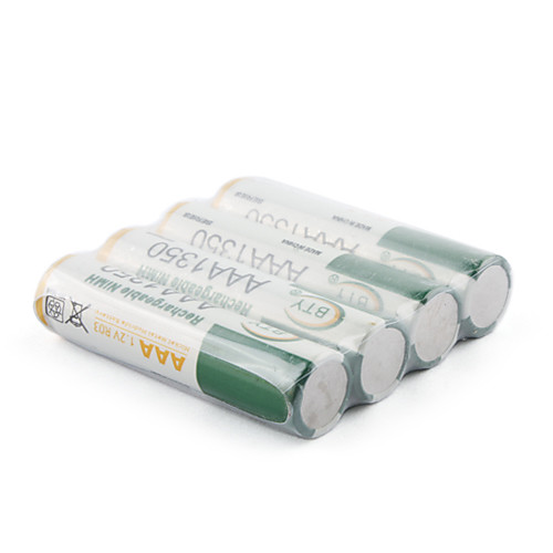 4 перезаряжаемых батареи AAA (1350 мАч, Ni-MH, 1,2 В) Lightinthebox 126.000