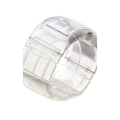 Футуристические часы-браслет с синими светодиодами (прозрачный белый) Lightinthebox 386.000