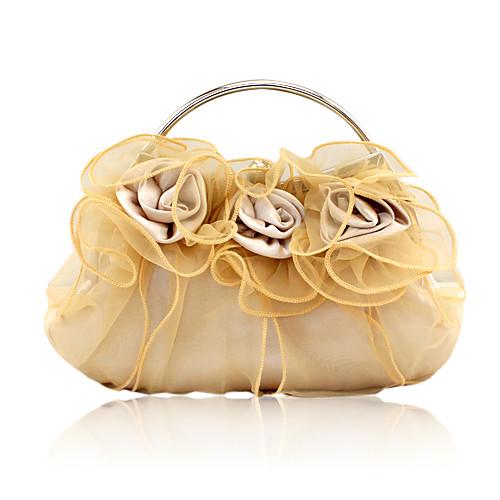 шелковой оболочки с цветком сумки вечер / муфты / верхом обрабатывать большее количество цветов Lightinthebox