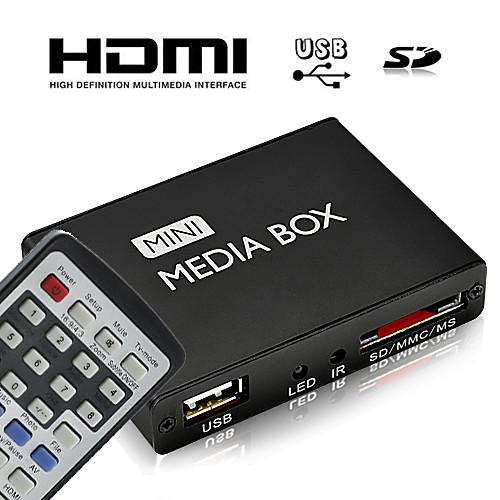 HD Mini мультимедийный плеер с пультом дистанционного управления, HDMI-выход Lightinthebox 1288.000