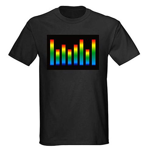 Музыкальная светодиодная футболка VU Meter EL (4 батарейки ААА) Lightinthebox 901.000