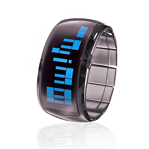 браслет дизайн футуристический синий светодиод наручные часы - черный Lightinthebox 270.000